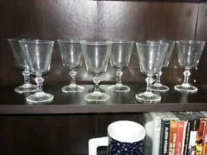 French Port Glasses Set 0f  4 or 8