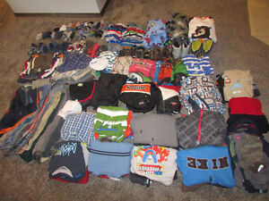 Boys size 4-6 clothes, jackets, shoes (for age 4-5). 215 items