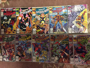 Web of Spiderman - issues #38, 59-61, 64-69 and Annual #6