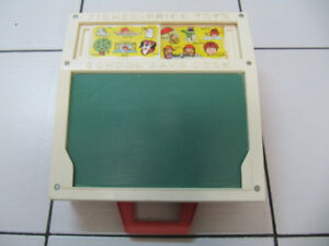 Classic Fisher Price Toys School Days Desk Circa 1972 USA Made