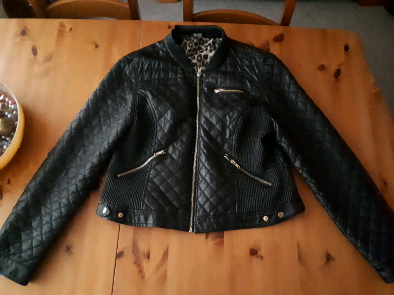 Ladies Biker Style Jacket Size 18 (Not real leather) for sale  Redfield, Bristol