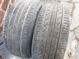 2 Run Flat Tyres 225/50R17. LANDSAIL