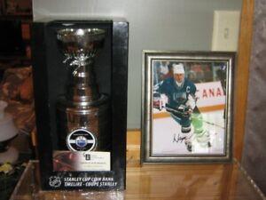 Autographed Wayne Gretzky Replica Stanley Cup + Auto Photo