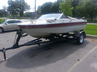 85 Mercury Crestliner Fishing Boat & 15 Tire EZ Load Trailer!
