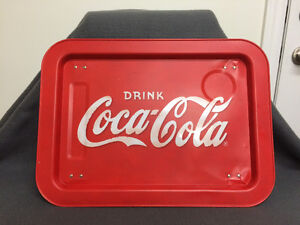 Collectible AntiqueCoca Cola Serving Tray With Folding Legs