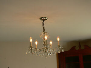 lovely retro chandelier with all crystals