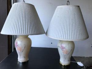 Pair of desk lamps