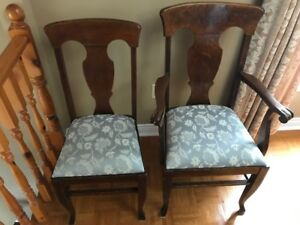 Antique Table with 6 Antique Chairs and Antique Sideboard