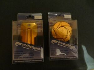 Hyosung Gold Anodized Aluminum Brake Master Caps - Brand New