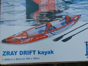 ZRAY SPORTS DRIFT KAYAK TWO PERSON INFLATABLE
