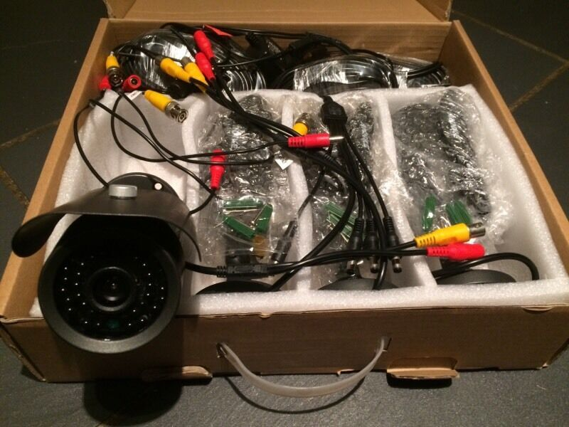 4 X cctv cameras - brand new in box
