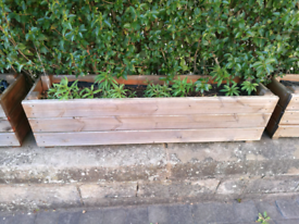 Solid Wood Planters Lined With Compost Included!