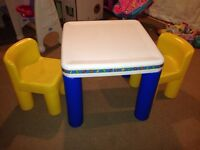 Little Tikes table and chairs.