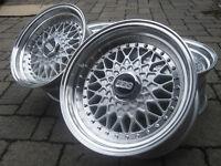 BBS REPLICA 15X8 4X100 4X114.3 MK2 VW BMW HONDA