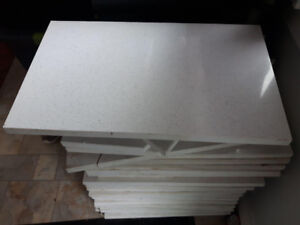 """Cesarstone tiles 3/4"""" thick with beveled edge 26  pieces $100"""