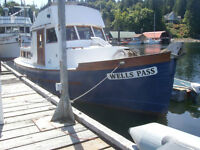 Commercial fish-boat converted for live-aboard/cruising