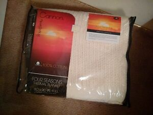 "Brand New, Never Opened Blanket 100% Cotton 80""x90"""