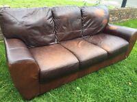 Brown leather sofa FREE!