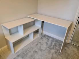 Computer desk, Wayfair - White, L shaped