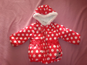 Minnie Mouse winter jacket size 18-24 months