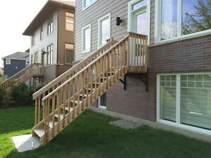 Cedar deck and stairs