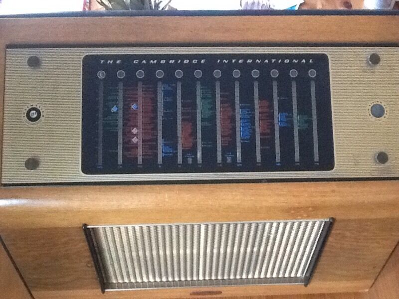 Table Top Radio Vintage Table Top Radio 1953
