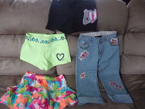 For sale...Justice shorts & skort & 3/4 pants.