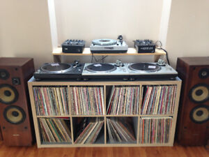 Electronics and LP collection