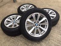 "GENUINE 17"" BMW ALLOYS w/TYRES 225/55/17 RUNFLAT - SLOUGH"
