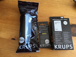 Krups Espresso Machine Cleaning Tablets, Filters, and Anticalc