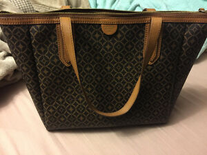 Fossil leather tote bag great condition