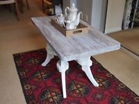 Stunning shabby chic solid wood coffee table