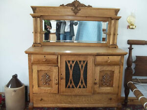 Antique Hand Made Wine Hutch Solid Wood $500.00