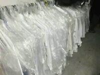 Bargain clearance closing stock 100 Ex-hire Designer Wedding Office Men White Shirts