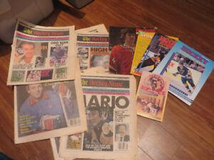 Hockey lot--Hockey News-Superstars albums