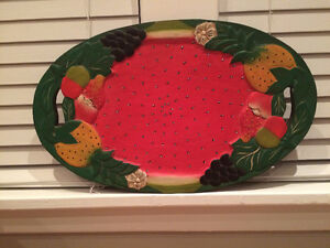 NEW PRICE - Wooden Serving Platter or Wall Hanging Belleville Belleville Area image 1