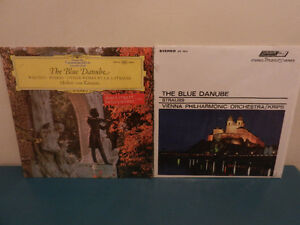 Vinyl Records Classical The Blue Danube Lot of 2 Strauss