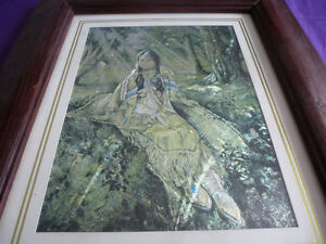 DUFEX FOIL PRINT - FOREST COMPANIONS - FRAMED Kingston Kingston Area image 1