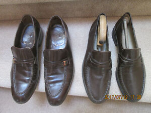 Several pair of quality men's leather Dress shoes - $ 15,- pair.