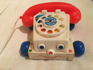 Vintage Fisher Price ChatterBox Telephone #747 - Excellent cond