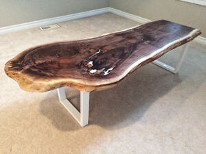 Black Walnut Live edge coffee table