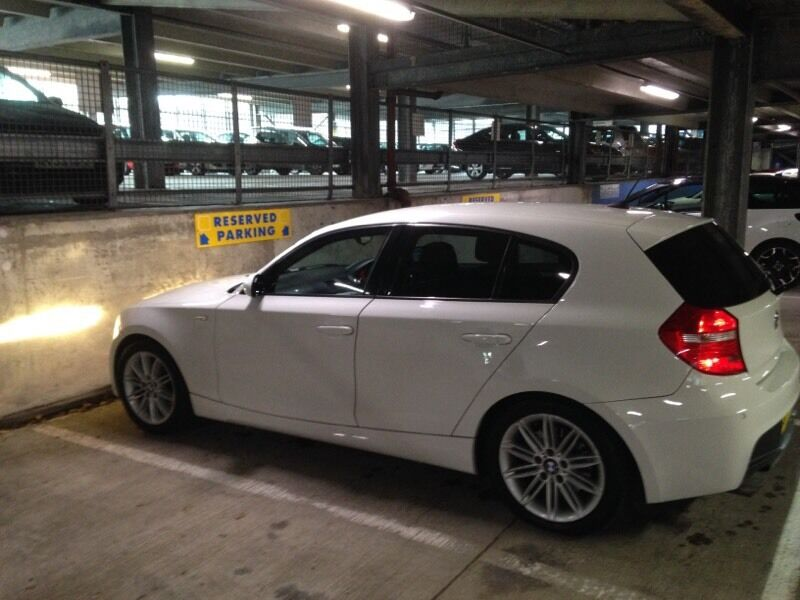 2009 bmw 1 series m sport white  1 lady owner in coventry  west midlands gumtree 2009 BMW 128I BMW 1 Series 2009 Gold Rims