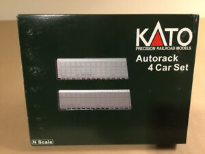 Kato N Scale set of 4 CP auto racks # 106-5504