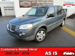 2007 Pontiac Montana Uplevel  EXTENDED - UNCERTIFIED *AS TRADED
