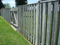 70 Feet of Wood Fence For Sale