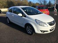 5707Vauxhall Corsa 1.2i 16v Club White 3 Door 66477mls MOT Oct 2018