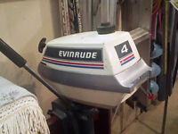 Evinrude 4HP Outboard with Built In Gas Tank