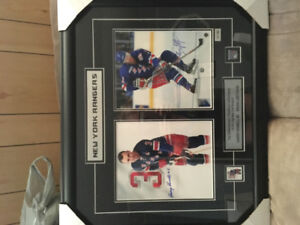 Framed Hockey and CFL football pictures
