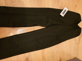 Boys black pull up school trousers - age 9 - 10 yrs