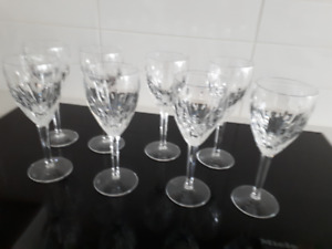 8 Waterford 'Lismore' Wine Glasses